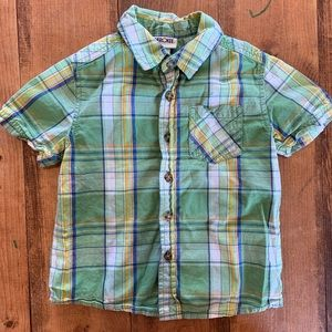 ⭐️ 3/$12 ⭐️ Green and Yellow Plaid Button Up Shirt